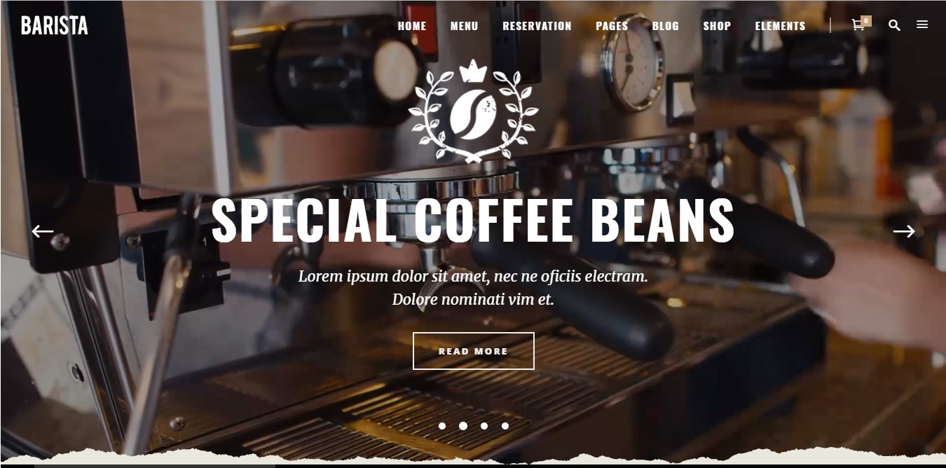 Barista Coffee Shop Website Example 1 How To Start A